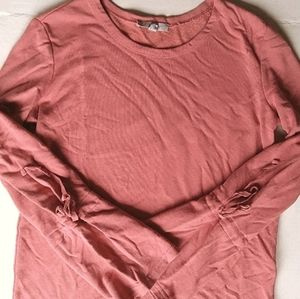 CORAL BELL SLEEVE SWEATER XS